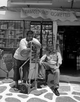 Giorgos and Giorgos-shop owner and assistant